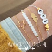 Armband leaves goud