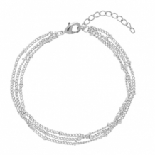 Armband layers zilver