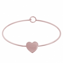 Bangle Hart rose goud