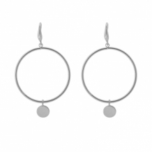 Earrings circle - zilver