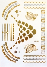 Golden tattoo stickers