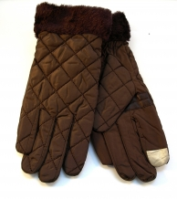 Touchscreen gloves brown