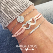 Armband line zilver