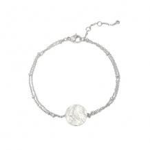 Armband munt zilver - Stainless Steel