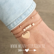 Armband dots - rose goud