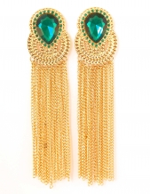 Earring tassel green
