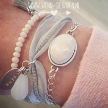 Armcandy Zilver -Wit