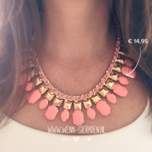 Statement Ketting brown stone