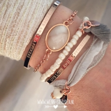 Quote armband rose goud