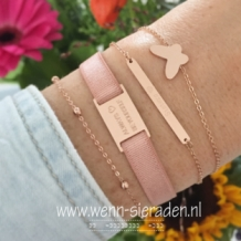 Armband Sisters - rose goud